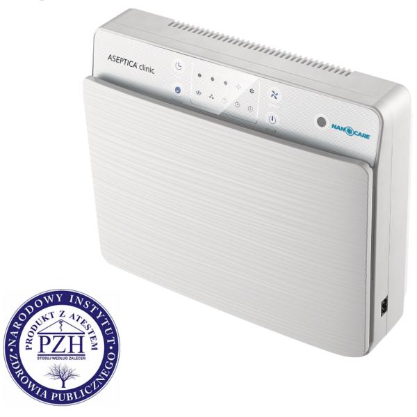 Aseptica Clinic – Oczyszczacz powietrza z wielopoziomową filtracją i lampą UV-C